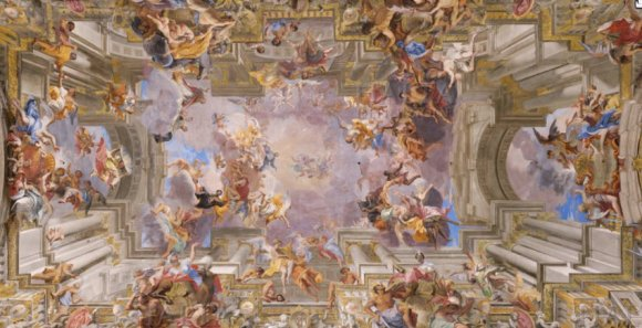 the-vault-of-the-santignazio-church-in-rome-frescoed-by-andrea-pozzo-is-one-of-the
